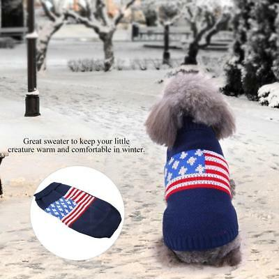 Small Cute Pet Dog Cat Knitted Cloth Apparel Puppy Warm Sweater Winter Coats