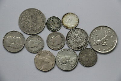 Uk & Canada Coins Lot With Silver A97 Xz12