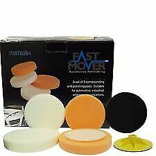 "Fast Mover FMT6094 150mm 6"" Full Set of Foam Pads Cutting & Polishing Set of 5"