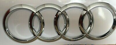 Audi Chrome Rear Boot Ring Badge Emblems A3 A4 A5 A6 S Line 178*58mm