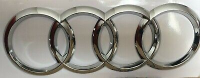 AUDI CHROME RINGS Boot BADGE EMBLEMS A4, A6 Q3, Q7 S-Line 216*75mm