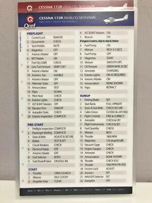 Cessna 152 Quick Reference Aircraft Checklist Card by Qref