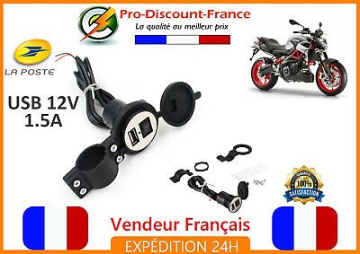 USB Charger Universal Scooter Motorcycle Quad Handlebar phone GPS Tablet 12V