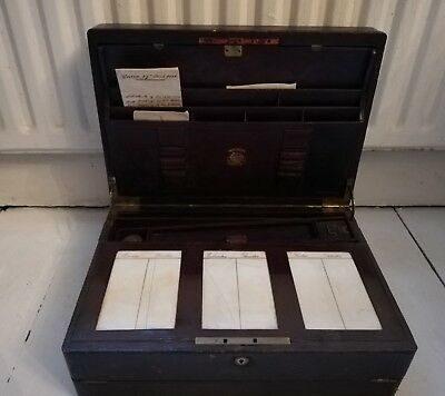 Late Victorian Dispatch Writing Case / Slope By Toulmin and Gale