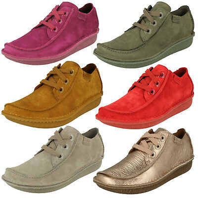 Ladies Clarks Funny Dream Casual Suede Leather Lace Up Flat Shoes D Fitting