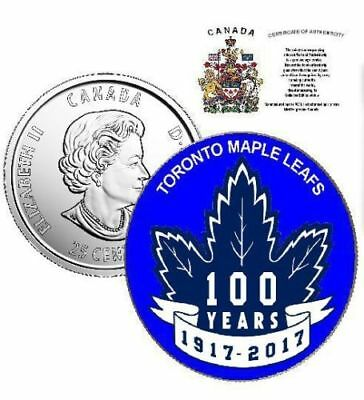 2017 Canada 25 cents - 100th Anniversary of Toronto Maple Leafs with COA