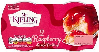 Mr Kipling Sponge Puddings - Raspberry (4x2x95g)