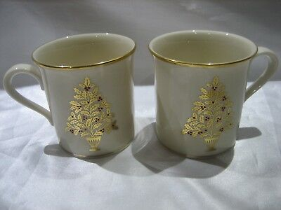 Lenox Eternal Christmas Dimension Collection Set Of 2 Coffee Mugs