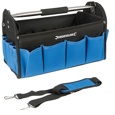 "Silverline 16"" 400Mm Tool Box Chest Bag Storage Tote Bag Caddy Holdall Case 091"