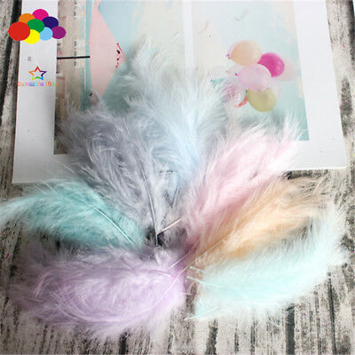Turkey Feathers 100 pcs 10-15 cm / 4-6 Inches Wedding Decoration Plumes Clothing