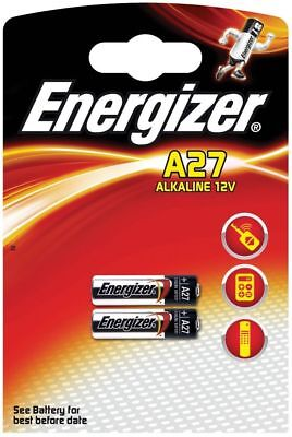 Energizer  A27  L828 MN27 12V Pack of 2 Batteries   FREE P&P