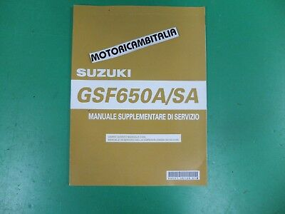 Suzuki Gsf650 A Sa Bandit K5 Supplemento Manuale Officina  Italiano