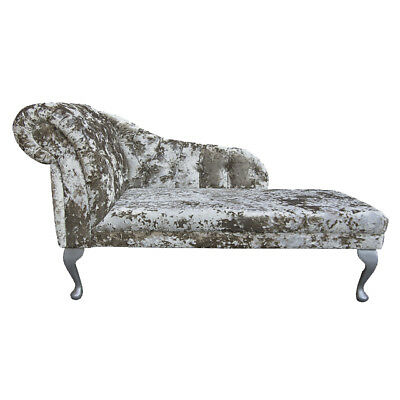 "52"" Large Chaise Longue Lounge Sofa Bed Seat Chair Lustro Jade Fabric Buttoned"