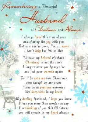 CHRISTMAS GRAVE CARD REMEMBERING A WONDERFUL HUSBAND Graveside Memorial Funeral