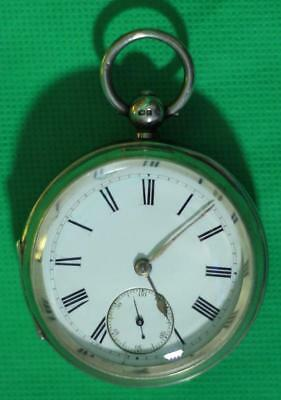 English Solid Silver Fully Hallmarked Goliath Fusee Pocket Watch