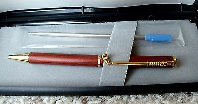 Beautiful Promotional Golf Club Clip Wooden Ballpoint Pen with Box & Blue Refill
