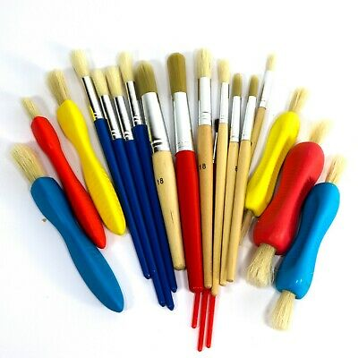 20  Paint Brushes - wood handles - assorted sizes  Children, Kids, Painting, Art