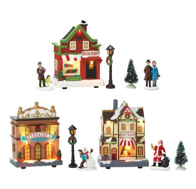 *NEW! Avon 2018 Holiday Village Christmas Scene 11-Piece Set - great decoration!
