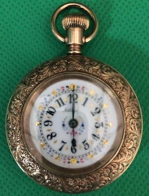 Ornate Open Face Antique Top Winding Duplex Escapement Antique Pocket Watch