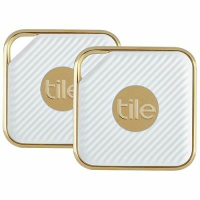 Tile Style - Pro Series.  Key Finder. Phone Anything Finder 2-pack, gold
