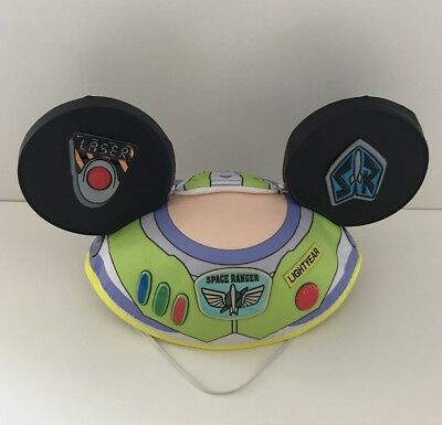 Disney Parks Mickey Mouse Ears Hat, Buzz Lightyear Kids Hat, Toy Story, Rare