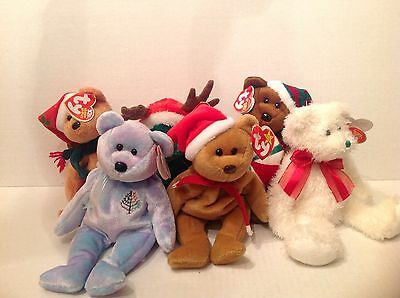 Ty Beanie Original Baby Xmas EACH SOLD SEPARATELY   NWMT