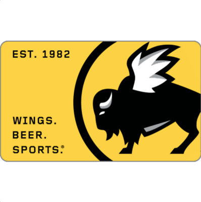 Get a $50 Buffalo Wild Wings Gift Card for only $45  - Email Delivery