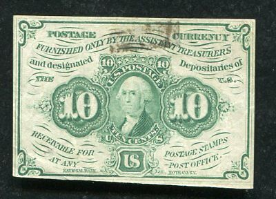Fr. 1242 10 Ten Cents First Issue Fractional Currency Note Extremely Fine (E)