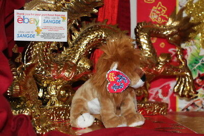 "Ty 2.0 Beanie Baby Midas The Lion-6""-Unused Code-2008-Mwnmt-Nice Gift"
