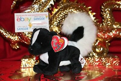 "Ty 2.0 Beanie Baby Skunkers The Skunk-6""-Unused Code-2008-Bad Tag-Nice Gift"