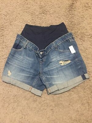 NWT! Old Navy Maternity Distressed Cuffed Denim Shorts - Size 6 Regular