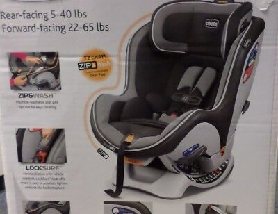 Chicco Car Seat NextFit IX Zip Convertible Reversible Positions In Atmos 4 65 Lb