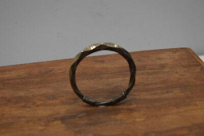 Chinese Bracelet Miao Wire Wrapped Coil Silver Bangle B