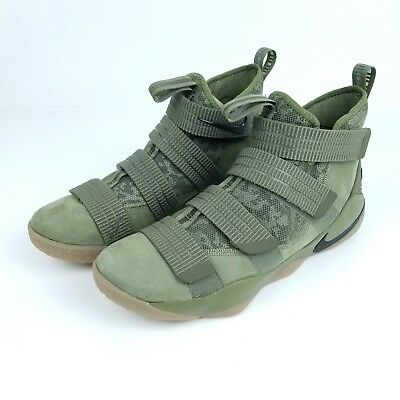 finest selection 4be61 46385 NIKE LEBRON SOLDIER XI 11 SFG Camo Green Mens Basketball Shoes 897646 200  Size *