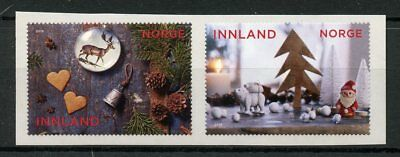 Norway 2018 MNH Christmas Decorations Santa Trees 2v S/A Set Stamps