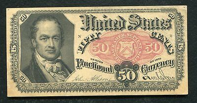 Fr. 1380 50 Fifty Cents Fifth Issue Fractional Currency Note About Unc (D)