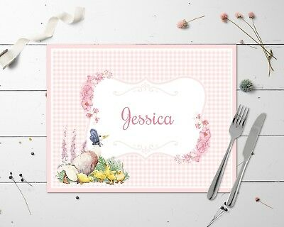 Personalised Beatrix Potter Jemima Puddle Duck Table Place Mat