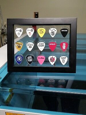8x6 Clear Insert - Guitar Pick #351 Display - Holds 15 - No Frame or Picks