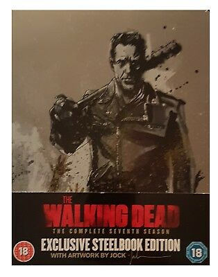 the Walking Dead Season 7 Steelbook Blu Ray  New slight cosmetic case damage