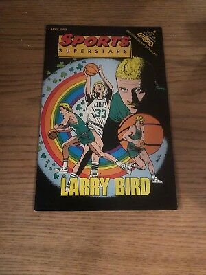 LARRY BIRD - Basketball Comic Book!!  RARE!! Sports Superstars!