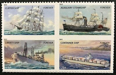 2011 #4548-51 Forever - US MERCHANT MARINE - Block of 4 Stamps - Mint NH
