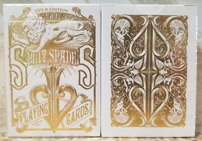 David Blaine GOLD EDITION Split Spades Playing Cards RARE Dan and Dave Theory11