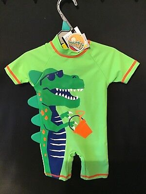 Boys Dinosaur All in One Swimsuit