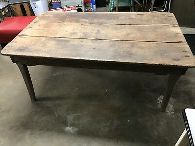Vintage Antique Primitive Barn Wood Harvest Fall Farm Shabby Kitchen Table