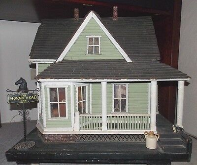 Vtg Horse Head Inn furnished Mystery Dollhouse from Washington Doll House Museum