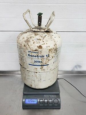 Genetron 12 Refrigerant Replacement 12 R12 30 lb Tank Total Weight 12 Freon