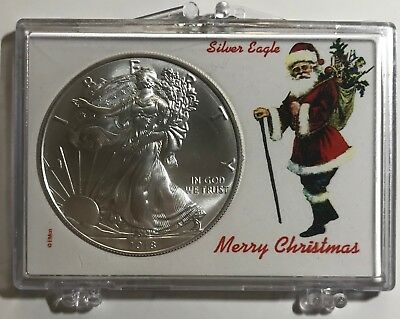 SANTA CLAUS - MERRY CHRISTMAS- 2018 American Eagle 1 oz. - .999 FINE SILVER COIN