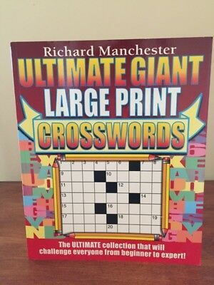 Crossword Puzzles (Ultimate Giant Large Print) by Richard Manchester