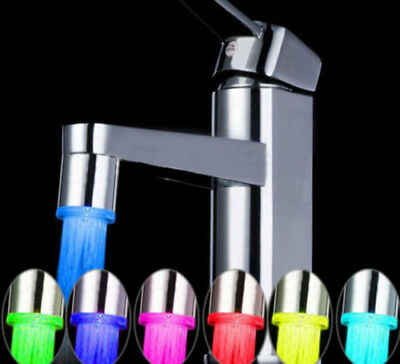 LED Water Stream Faucet Light Automatic 7 Colors Changing Shower Spout Sink XG