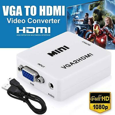 VGA to HDMI Full HD Video 1080P Converter Box Adapter for PC Laptop DVD TV XG